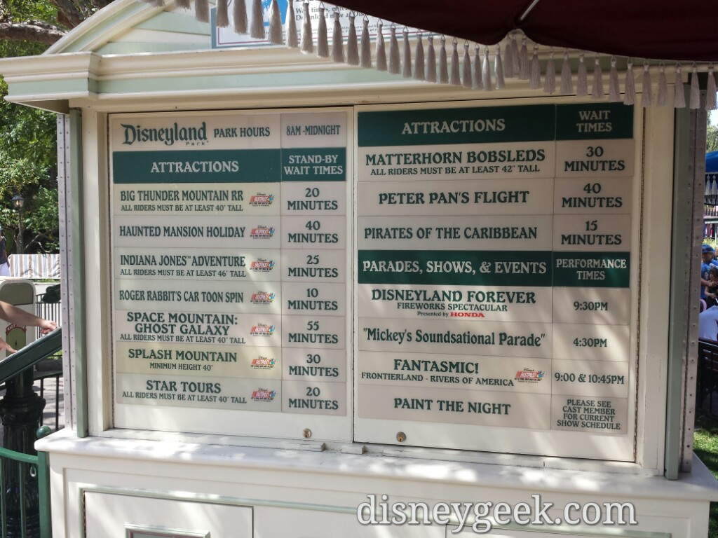 #Disneyland waits as of 1:58pm