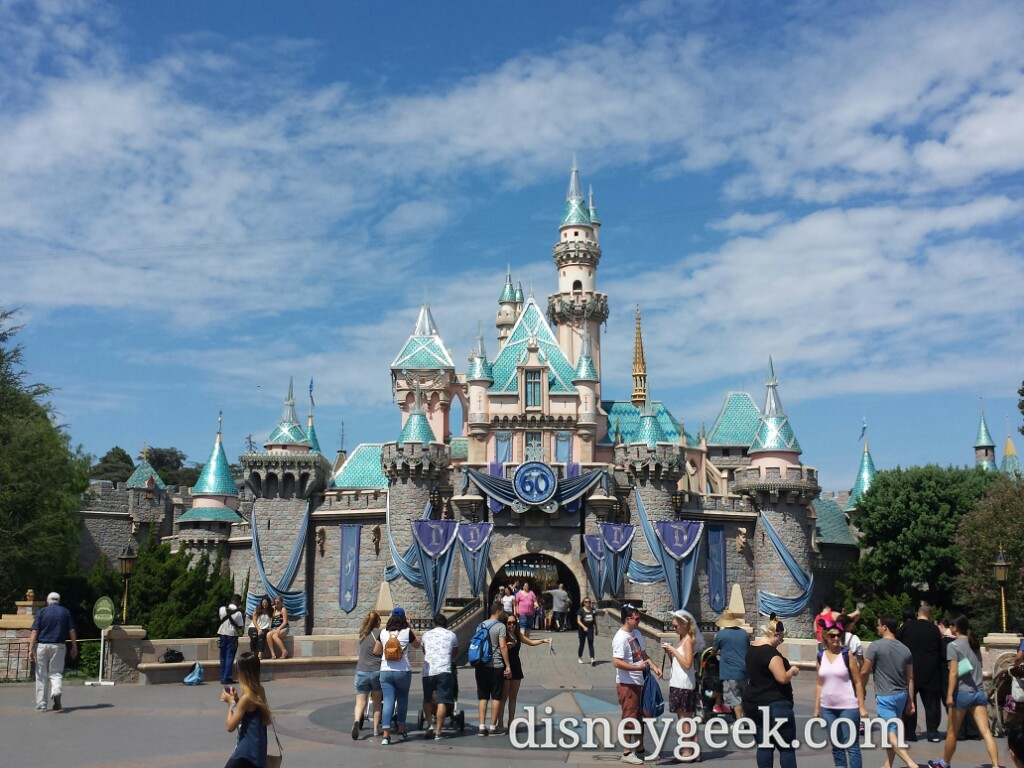 Sleeping Beauty Castle this afternoon #Disneyland60