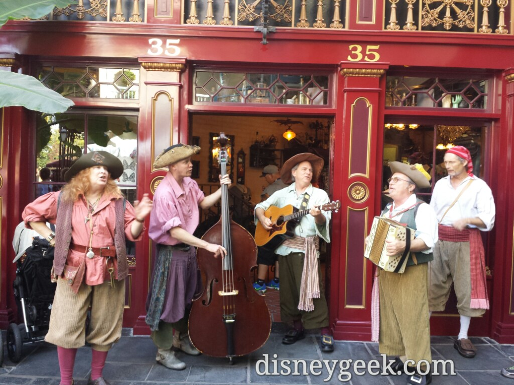 The Bootstrappers in New Orleans Square #Disneyland