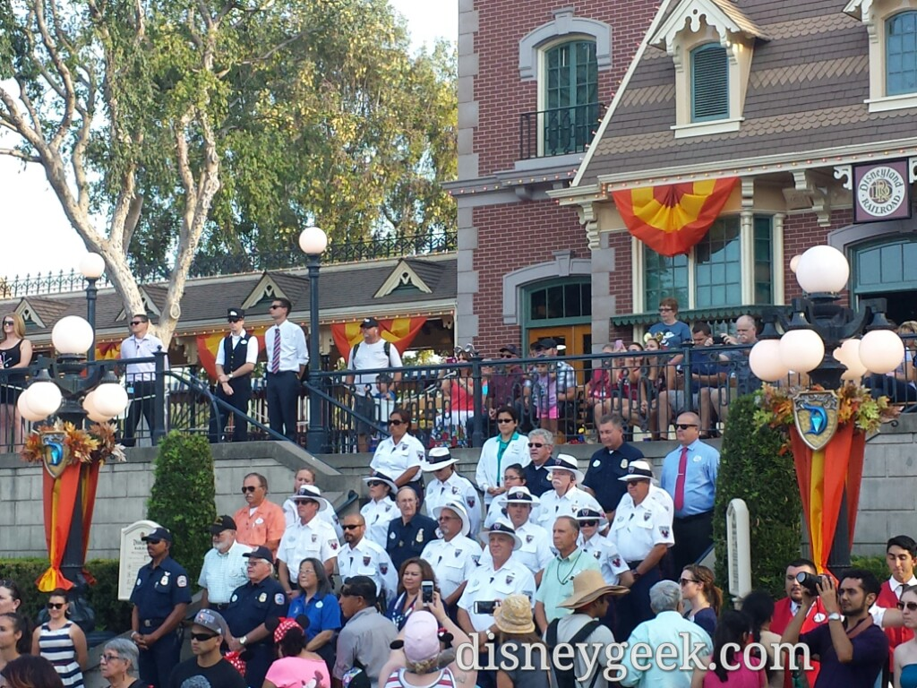#Disneyland security & first responders honored at #PatriotDay flag retreat ceremony