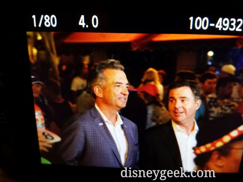 Michael Colglazier along with an entourage and camera crew just went up Main Street USA #Disneyland