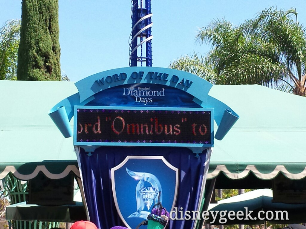 Arriving at #Disneyland the word of the day #Disneyland60
