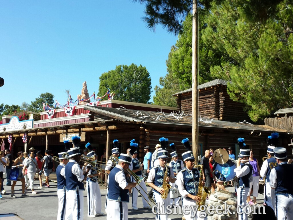 #Disneyland Band performing around the Frontierland flag pole