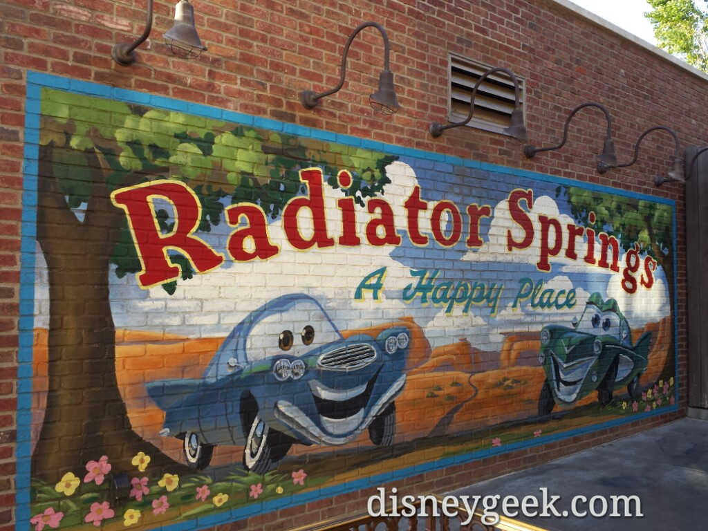 "Radiator Springs ""A Happy Place"" #CarsLand"