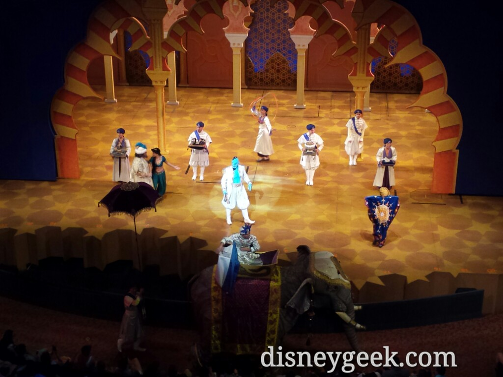 Prince Ali's arrivial #Aladdin at Disney California Adventure