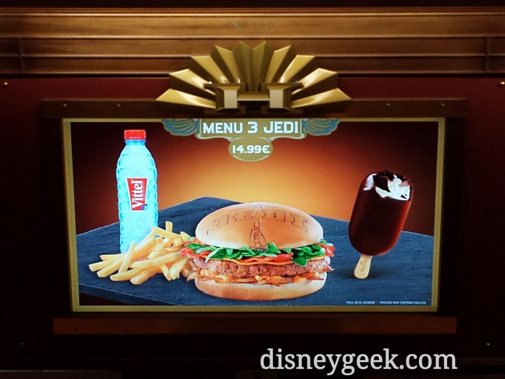 Jedi Burger at Cafe Hyperion #DisneylandParis