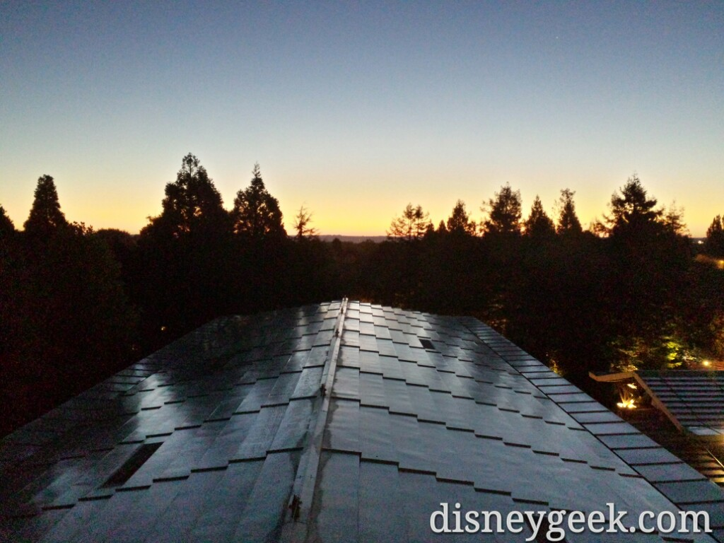 A look out from Disney's Sequoia Lodge at sun rise #DisneylandParis