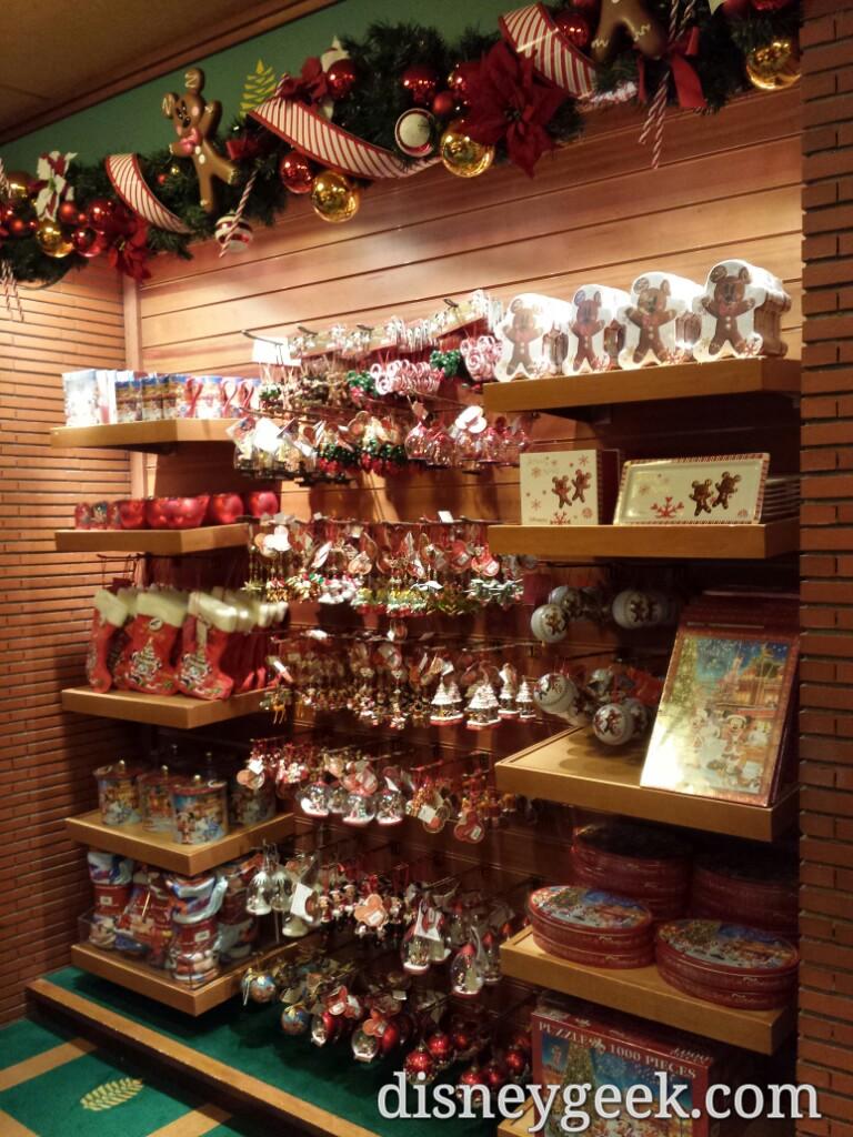 Christmas merchandise at Disney's Sequoia Lodge gift shop #DisneylandParis