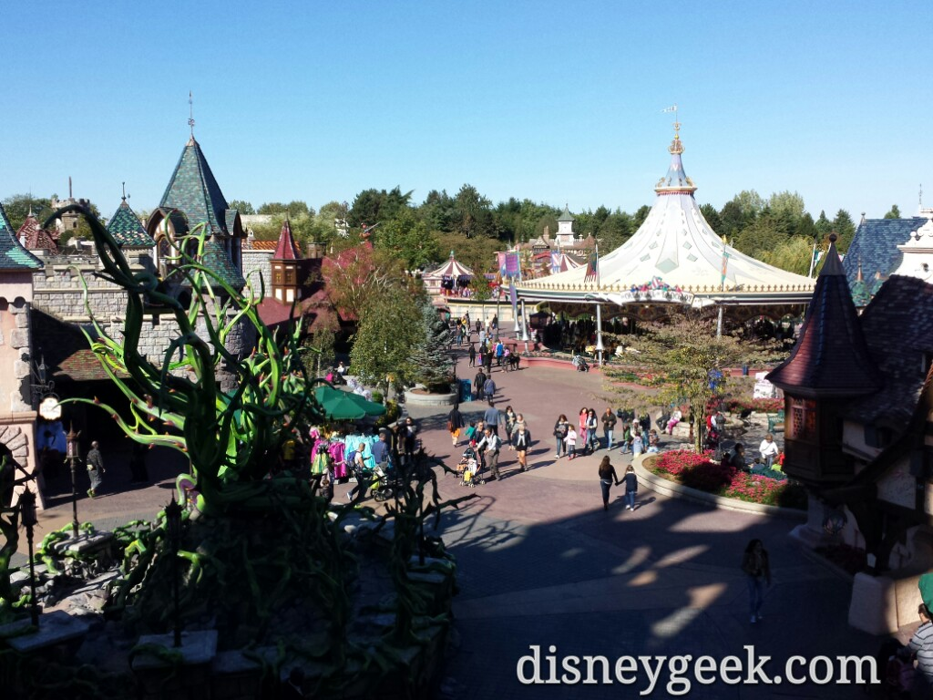 Fantasyland from Sleeping Beauty Castle #DisneylandParis
