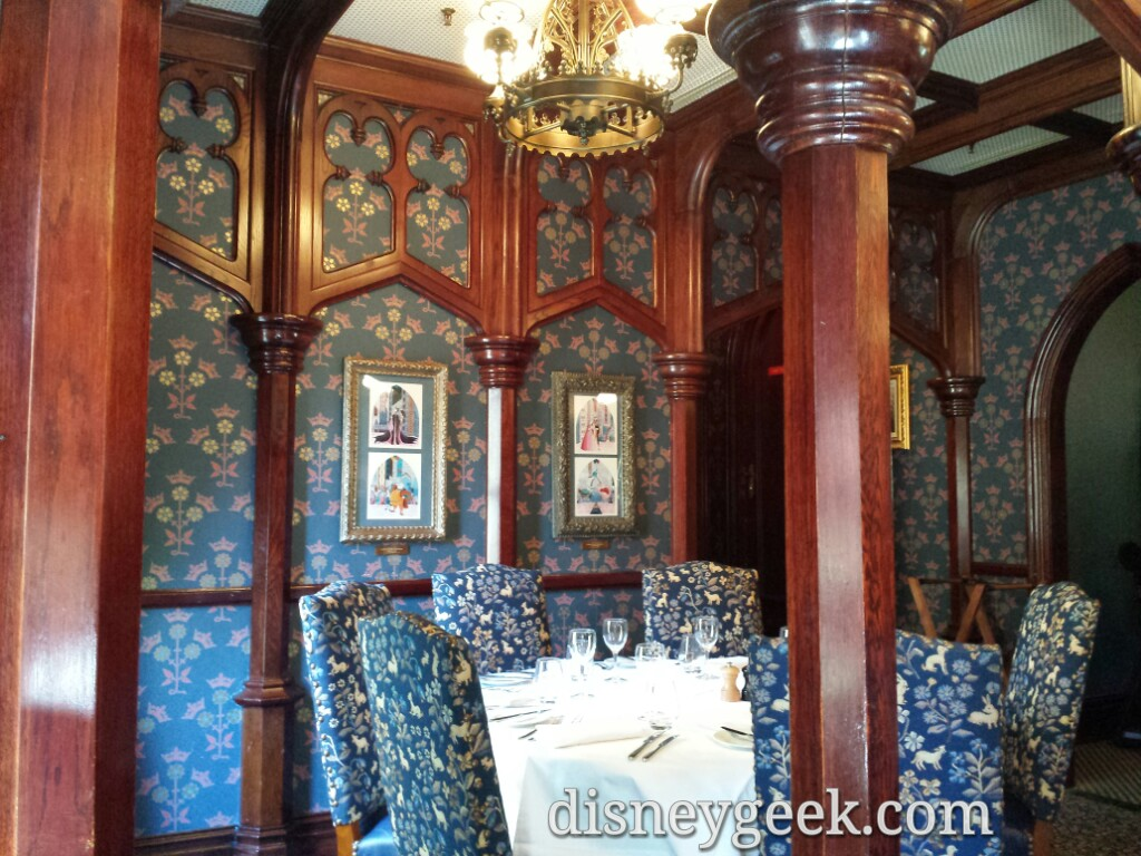The room we were seated in at Walt's #DisneylandParis