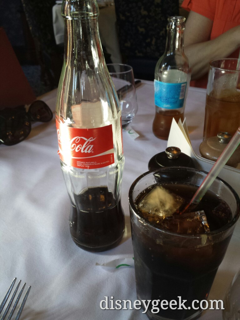 Cannot remember the last time I had Coke in a glass bottle Walt's #DisneylandParis