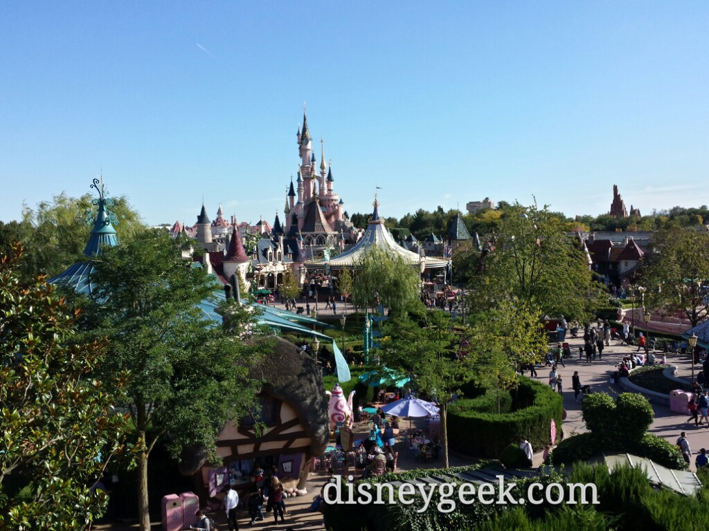 Fantasyland from the Queen of Hearts  Castle #DisneylandParis