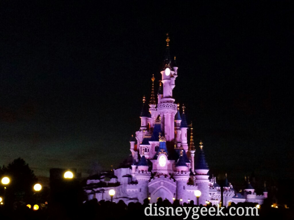 Sleeping Beauty Castle as I waited for #DisneyDreams #DisneylandParis