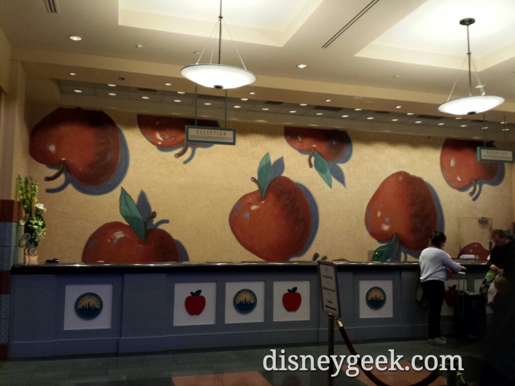 They take the big apple literally at the front desk Disney's Hotel New York