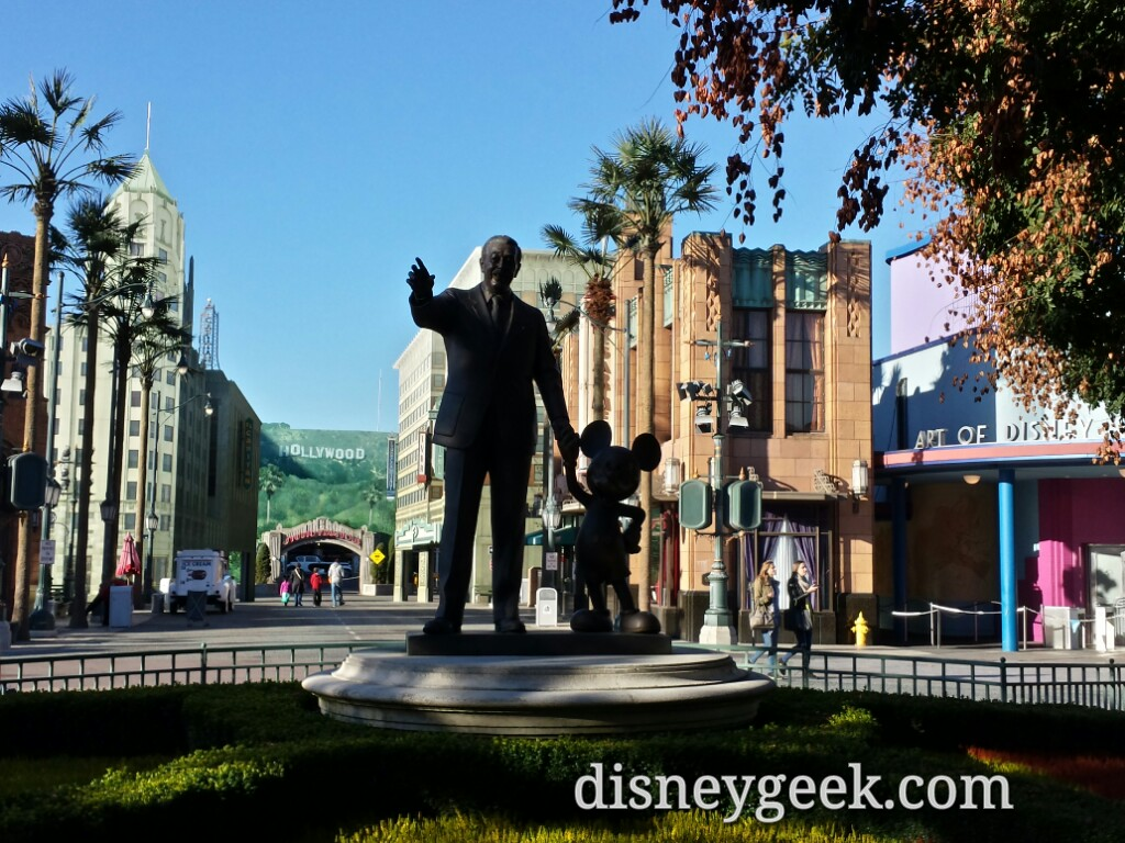 Walt and Mickey partners statue at the Walt Disney Studios Park #DisneylandParis