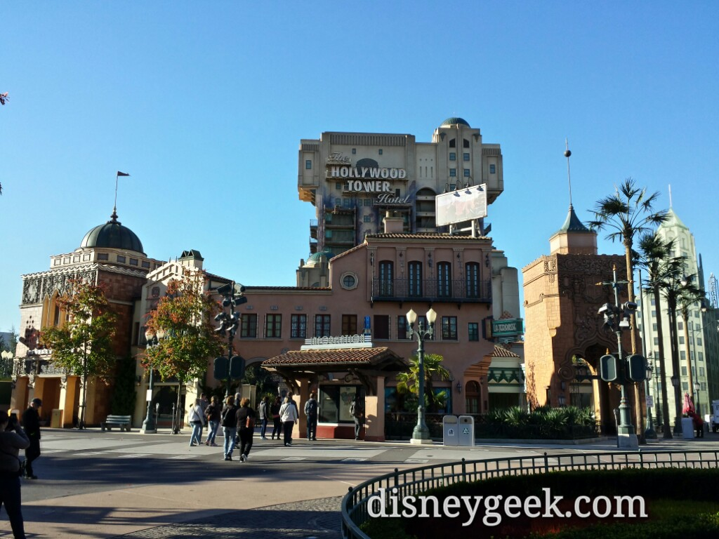 A familiar sight, the Tower of Terror looms over the Walt Disney Studios Park #dlp
