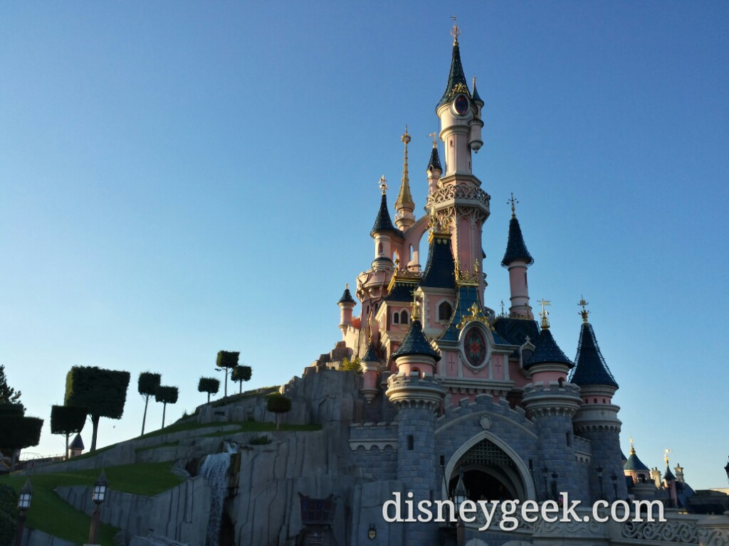Passing by Sleeping Beauty Castle #DisneylandParis