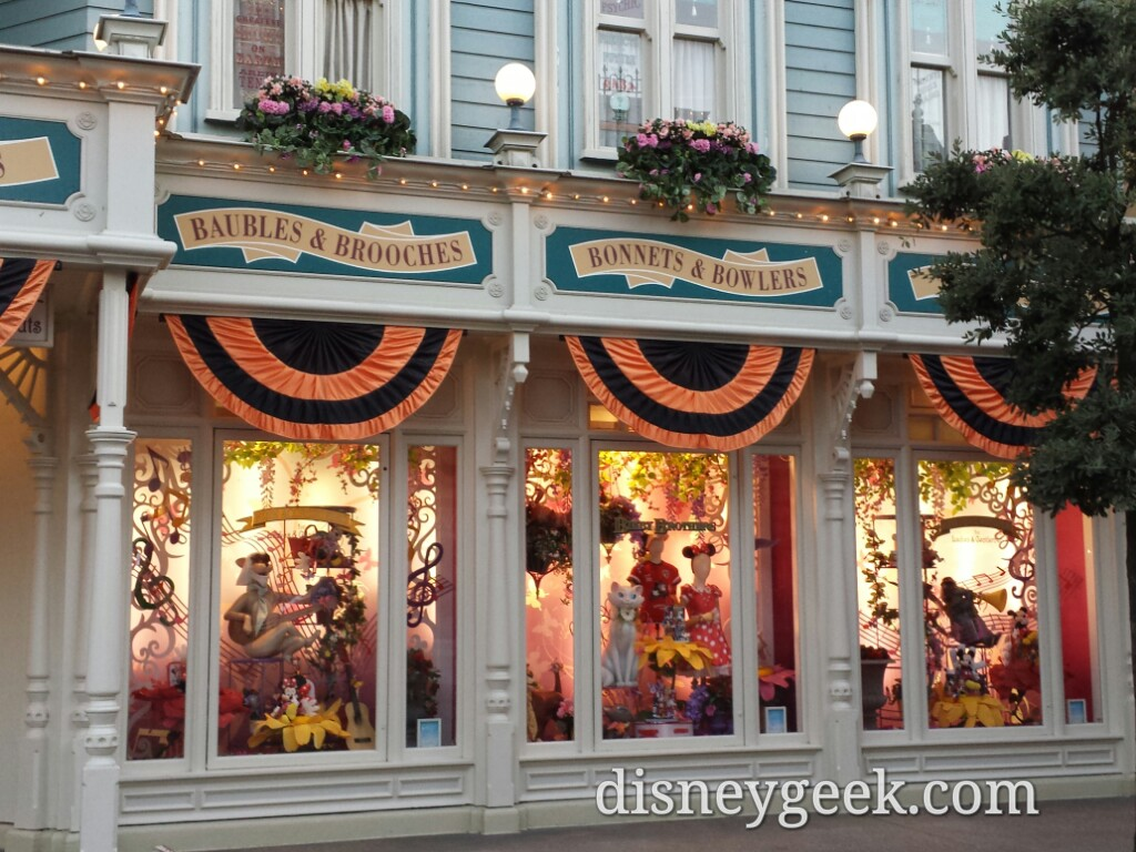 Some of the window displays on Main Street USA #DisneylandParis