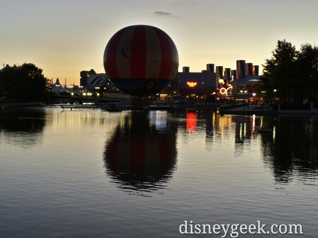 Looking back across the lake as the sun sets on Day 3 @ #DisneylandParis
