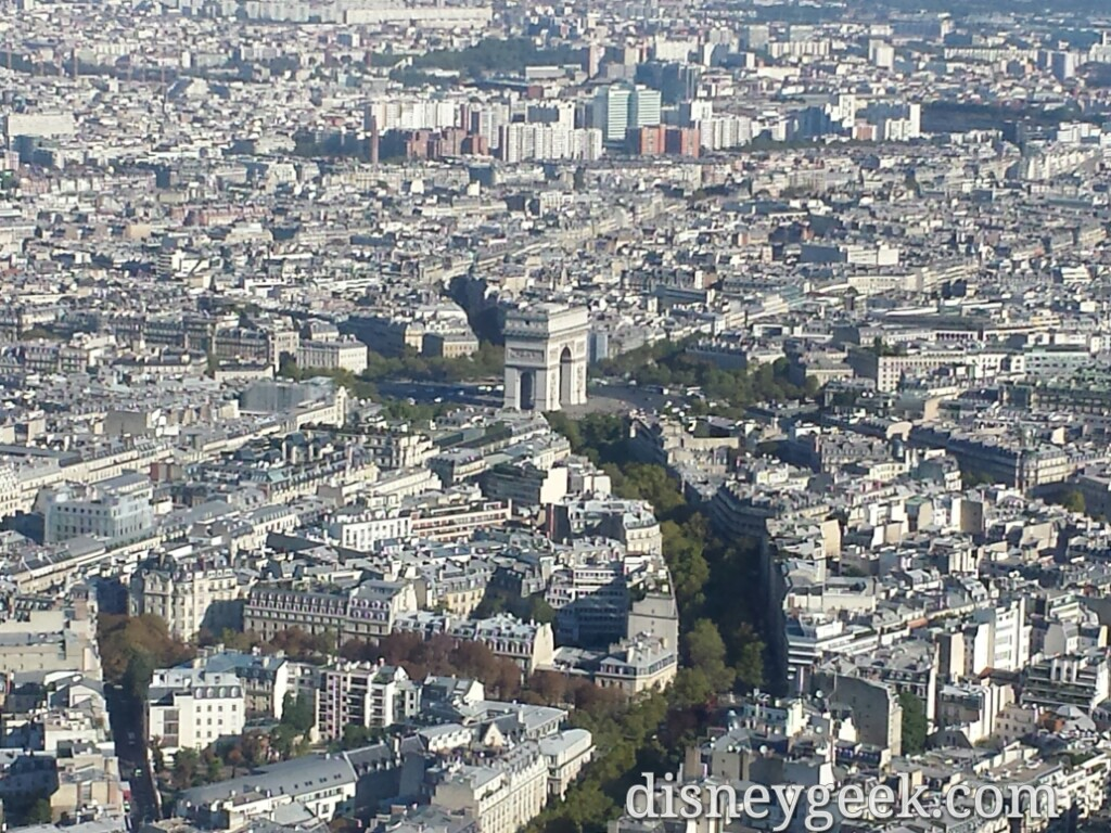 Arc de Triomphe from the #EiffelTower #Paris