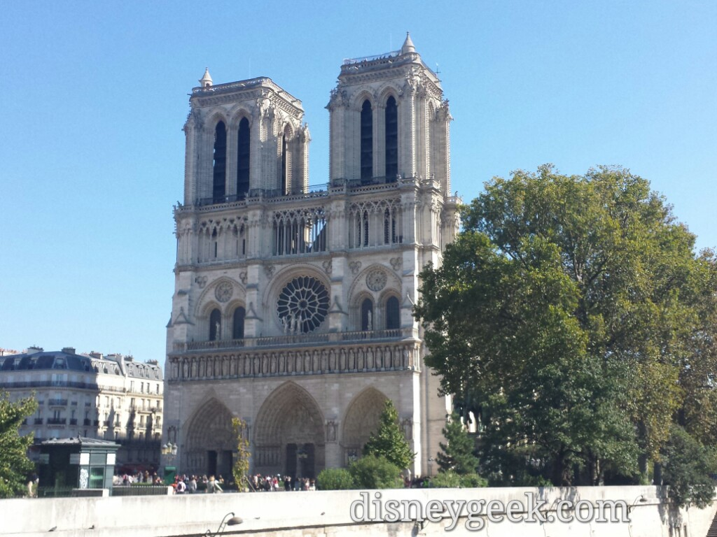 Visited #NotreDame after lunch #Paris