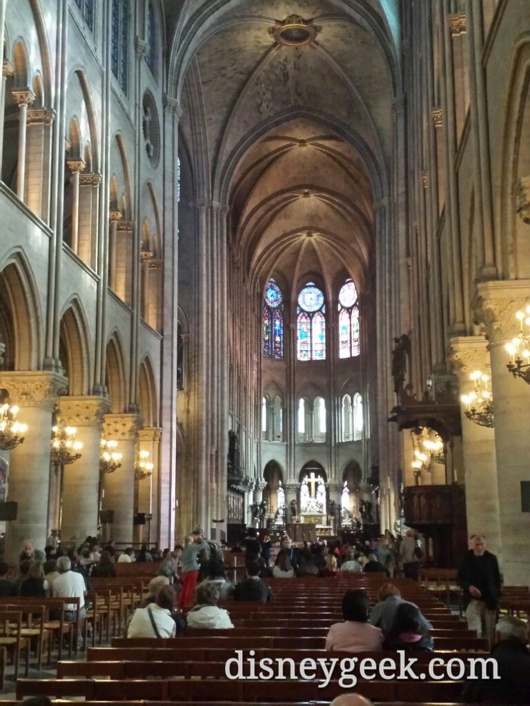 Inside #NotreDame #Paris