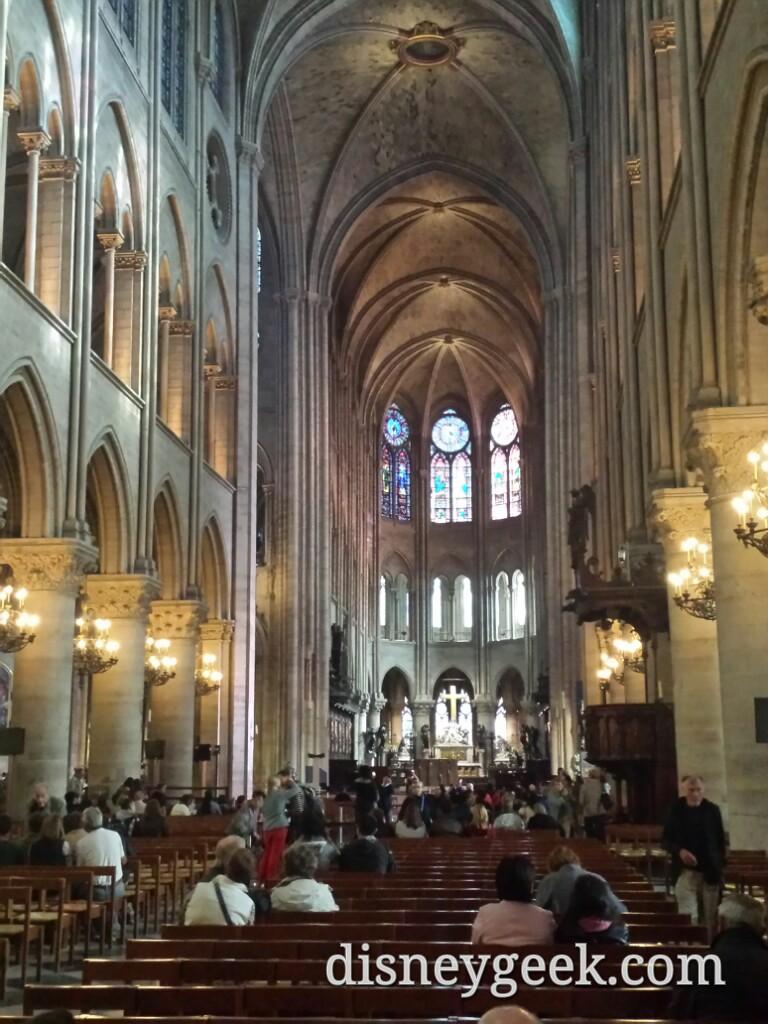 Inside #NotreDame #Paris