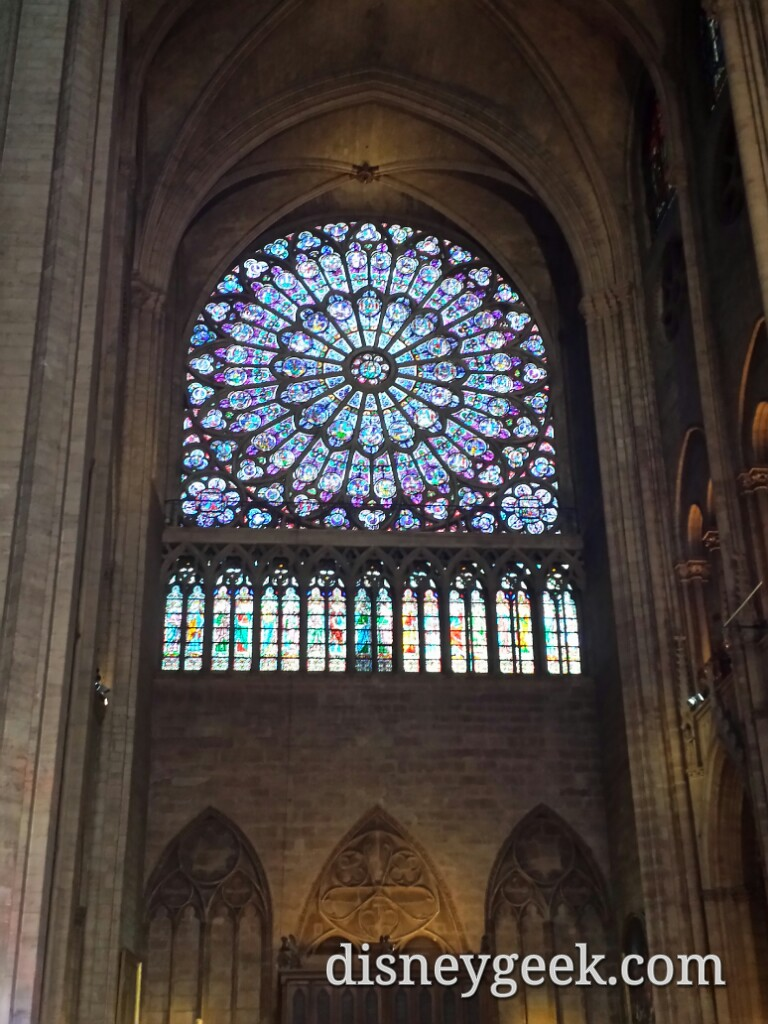 Stained glass inside #NotreDame #Paris