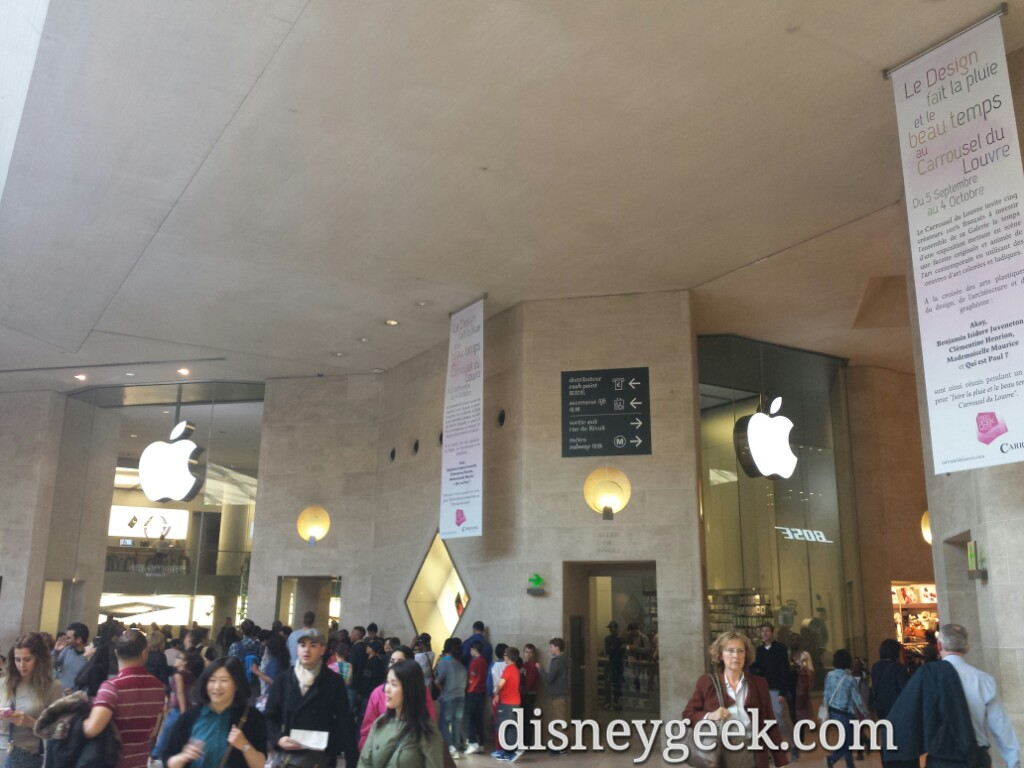 An Apple store in the shopping complex connected to the  #Louvre #Paris
