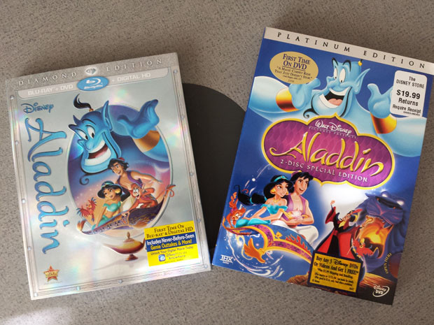 Aladdin DVD & Blu-ray Discs