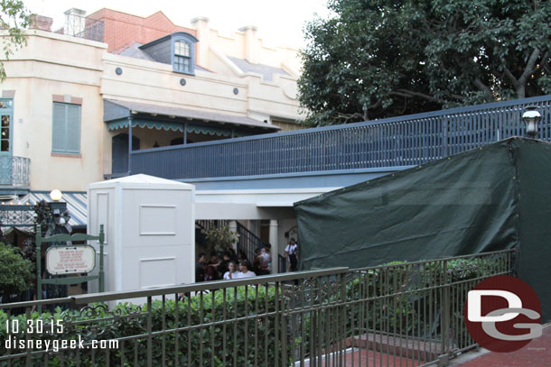 New Orleans Square - Temp Bridge from Train
