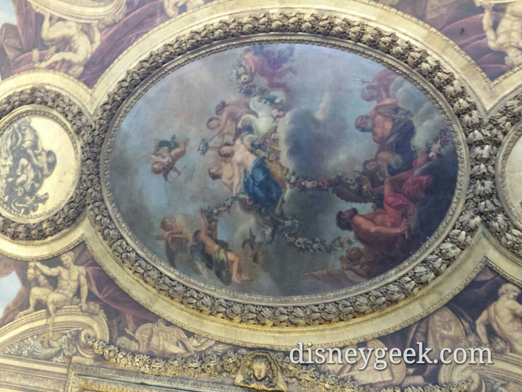 One of the many pieces of art on the ceilings Chateau De #Versailles #Paris