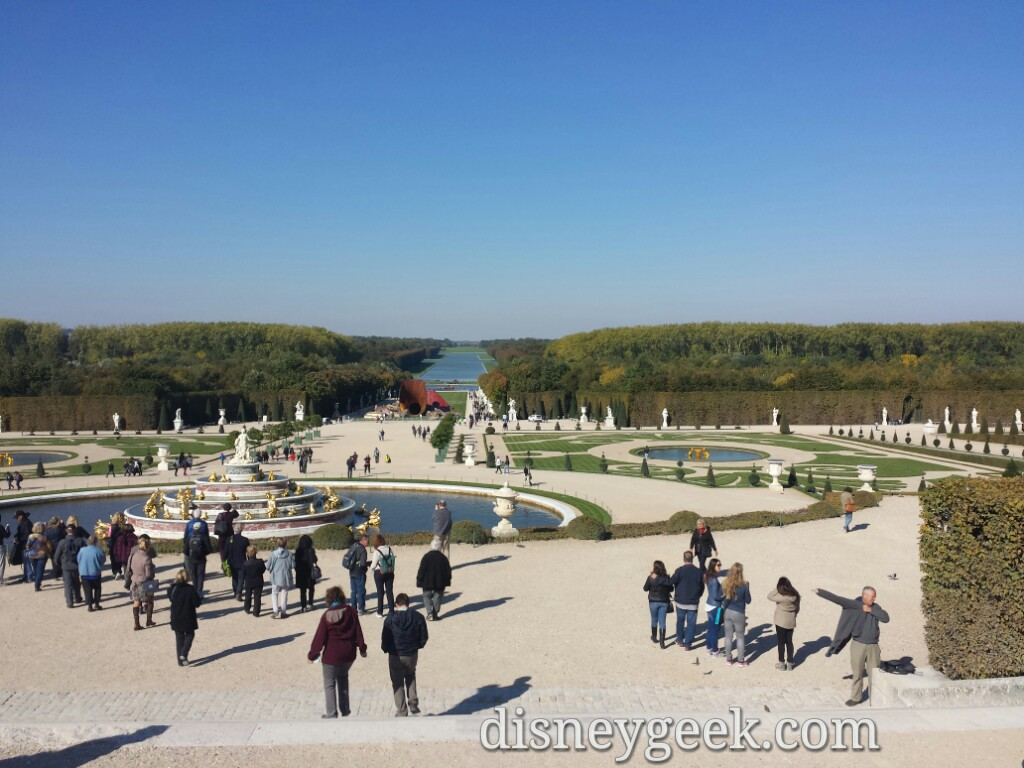 Looking over the gardens of Chateau De #Versailles #Paris