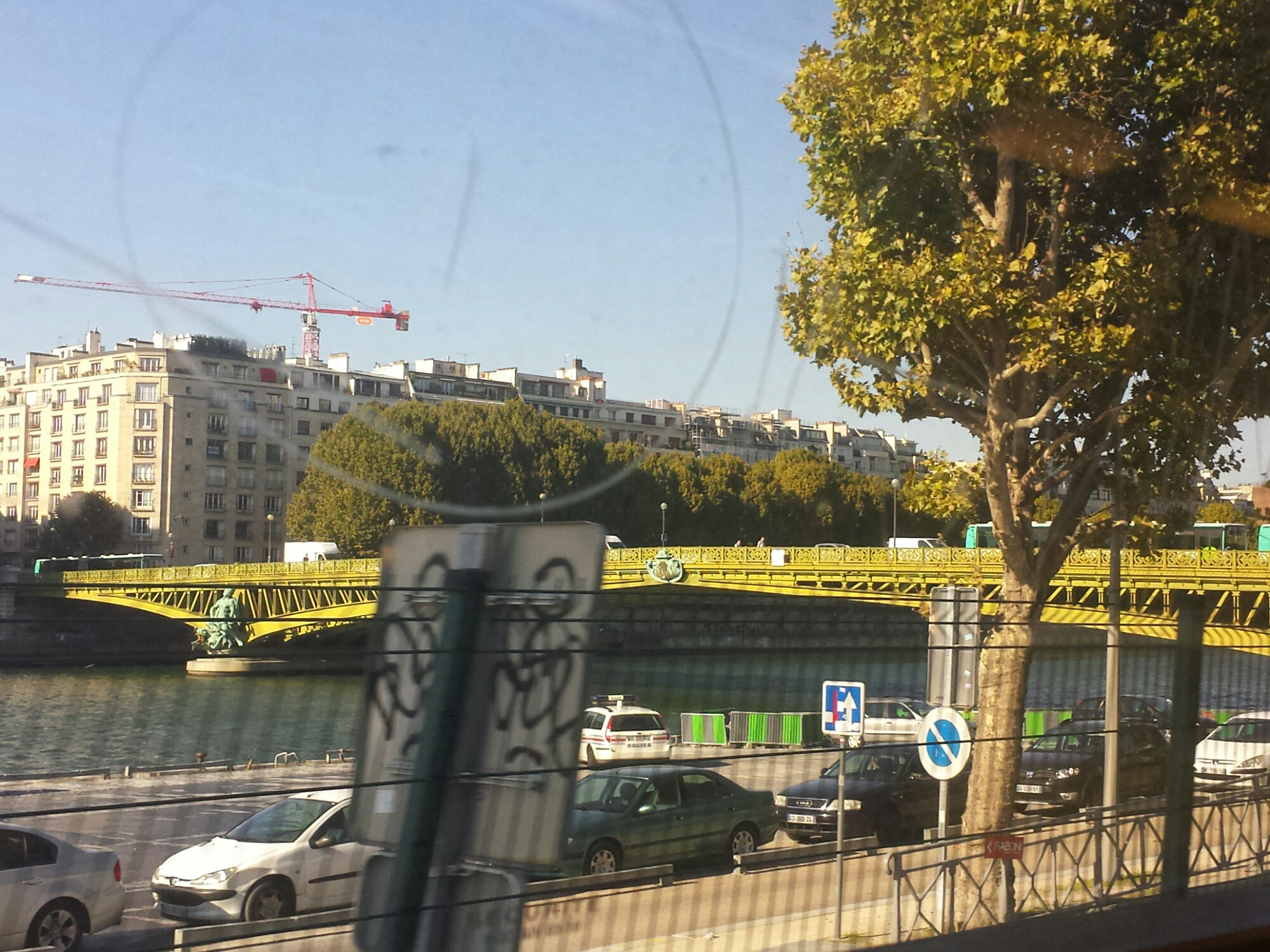 Traveling along the Seine by RER C train #Paris