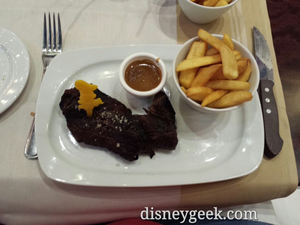My meal at the Steakhouse #DisneyVillage #DisneylandParis