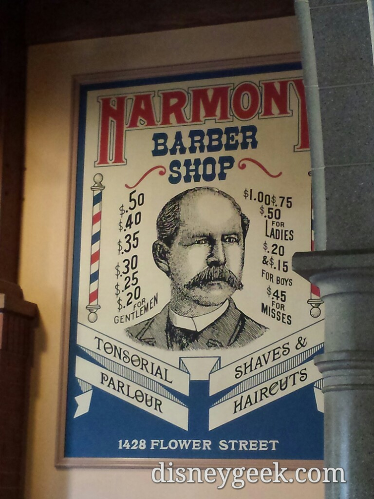 Notice the address of the barber shop #DisneylandParis