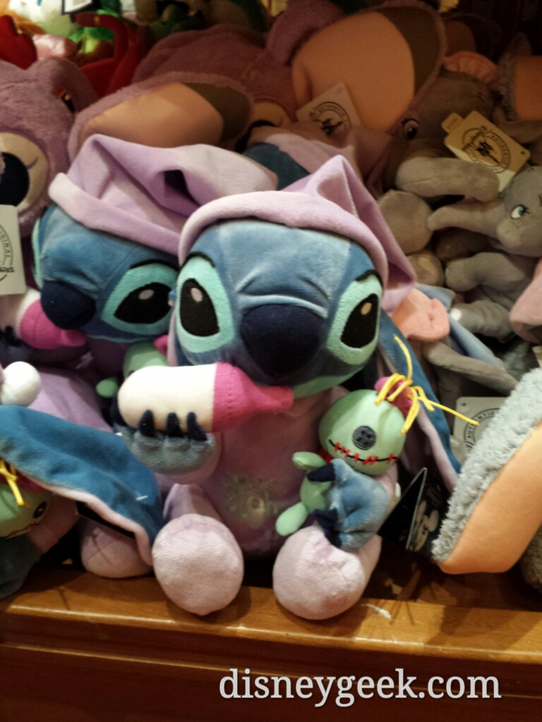 Stitch has a baby alien doll? Plush available on Main Street #DisneylandParis