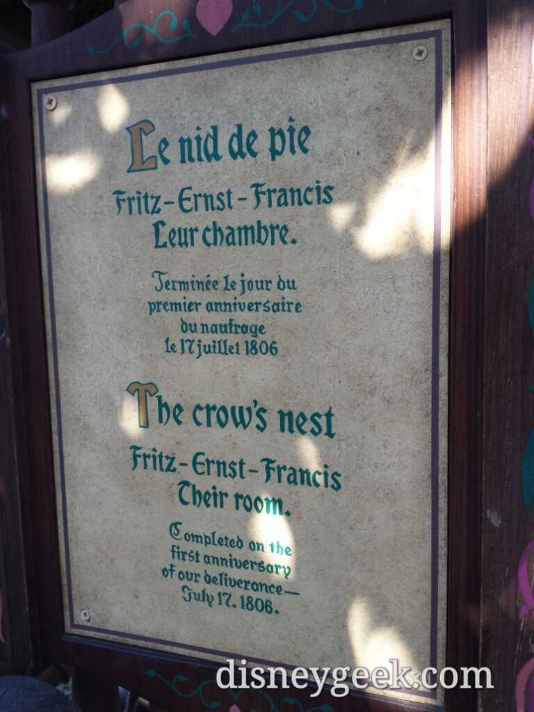Notice the date – Swiss Family Treehouse #DisneylandParis