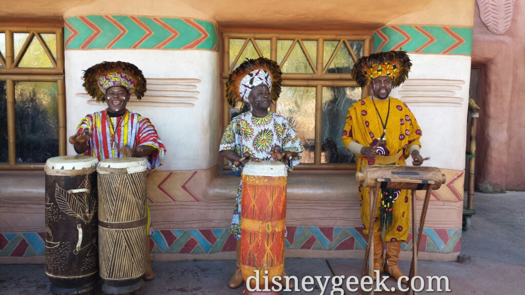 Drummers out in Adventureland #DisneylandParis
