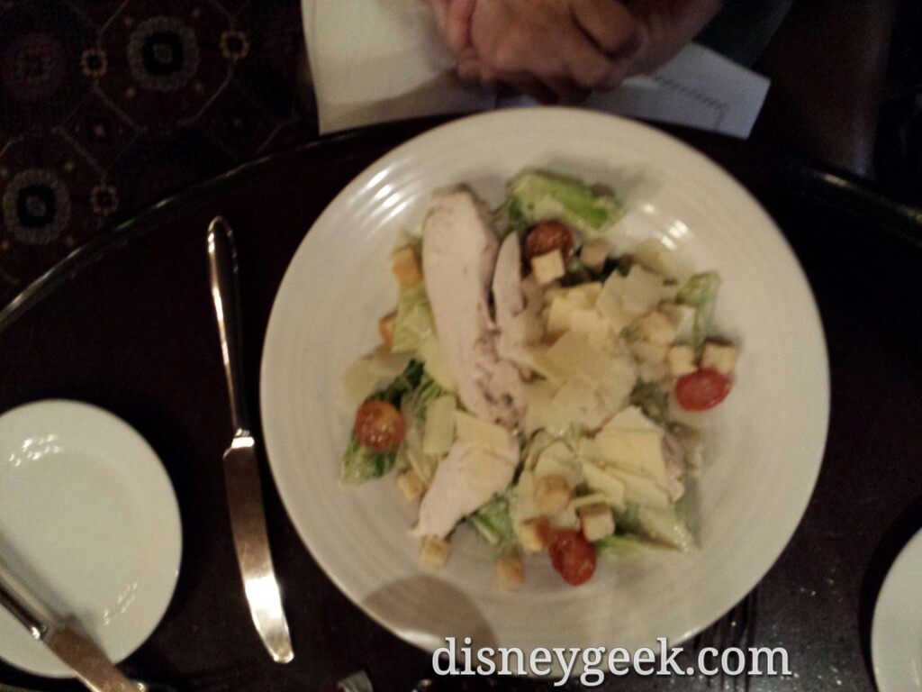 Chicken Ceasar Salad at the Silver Spur Steakhouse #DisneylandParis