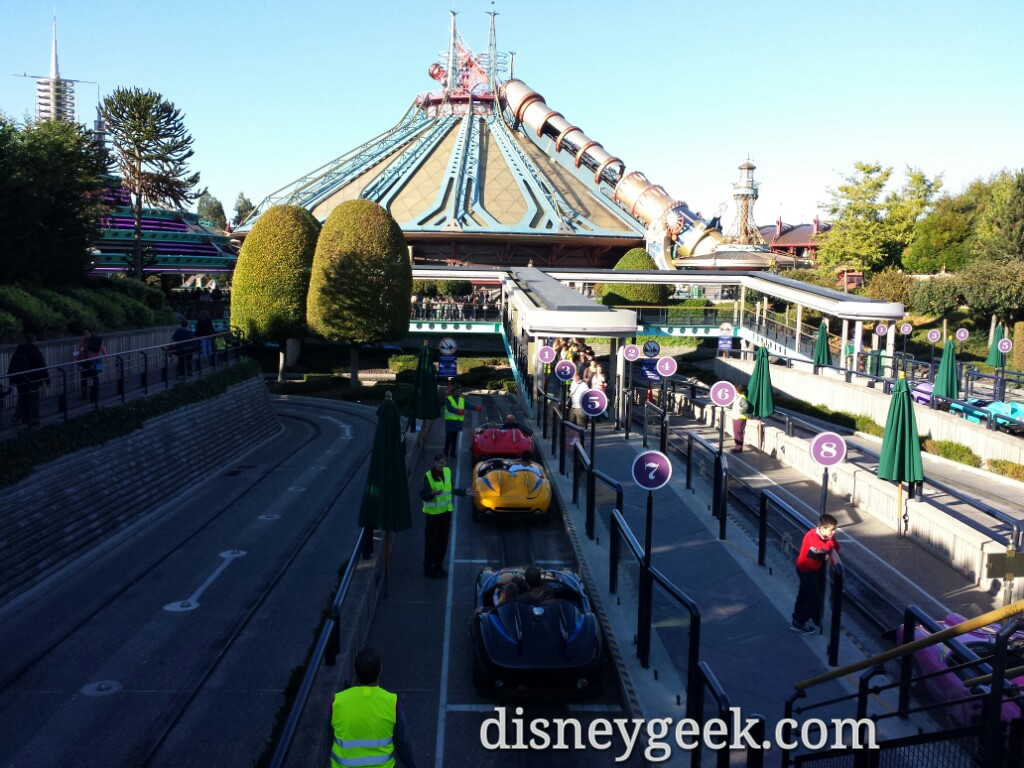 Autopia load/unload area #DisneylandParis