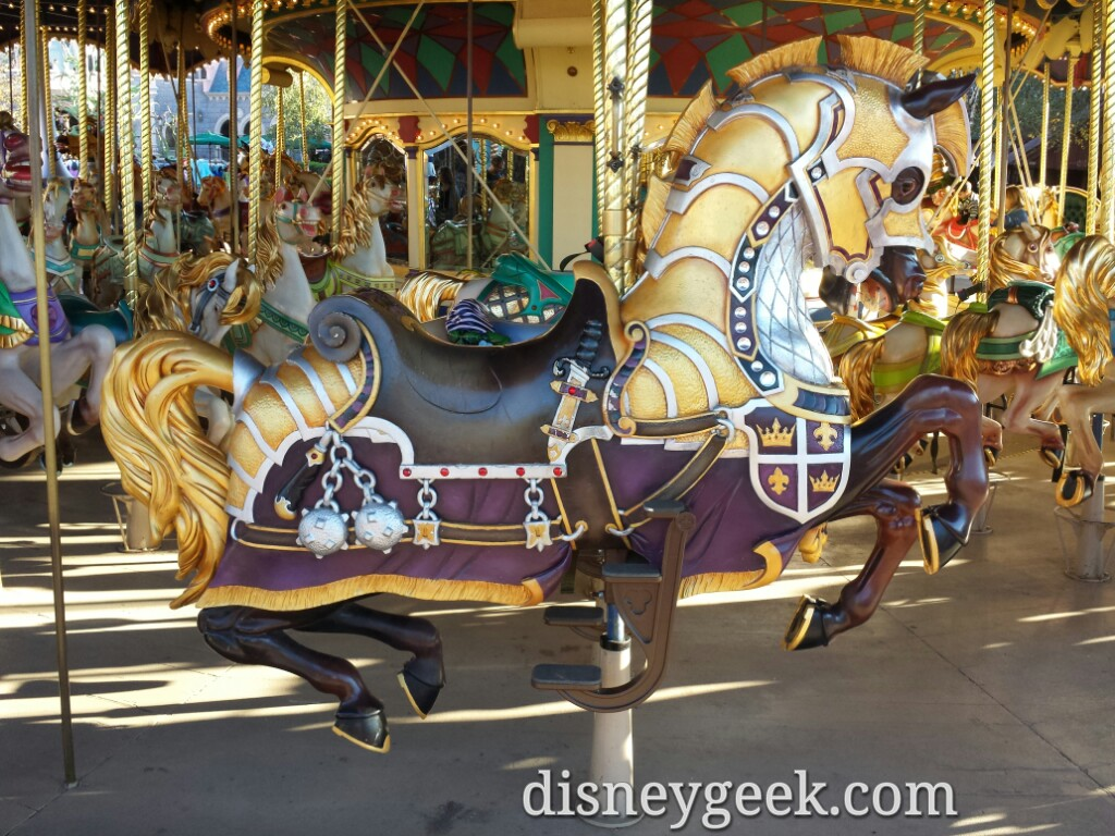 A horse on Le Carrousel de Lancelot #DisneylandParis