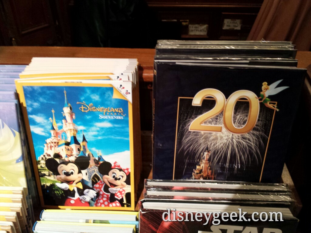 The hardcover photo book is from 2012 & French only the softcover this year and both English & French #DisneylandParis