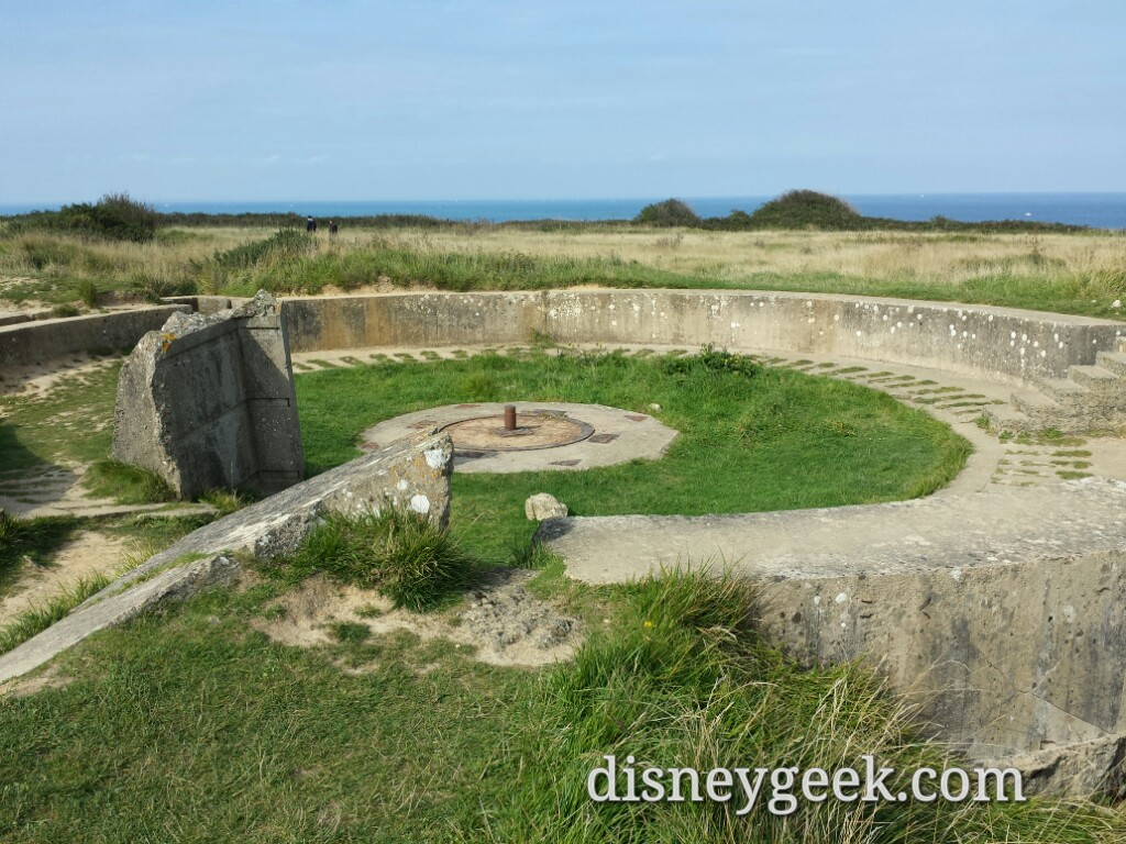 Where a German gun mounted at Pointe du Hoc