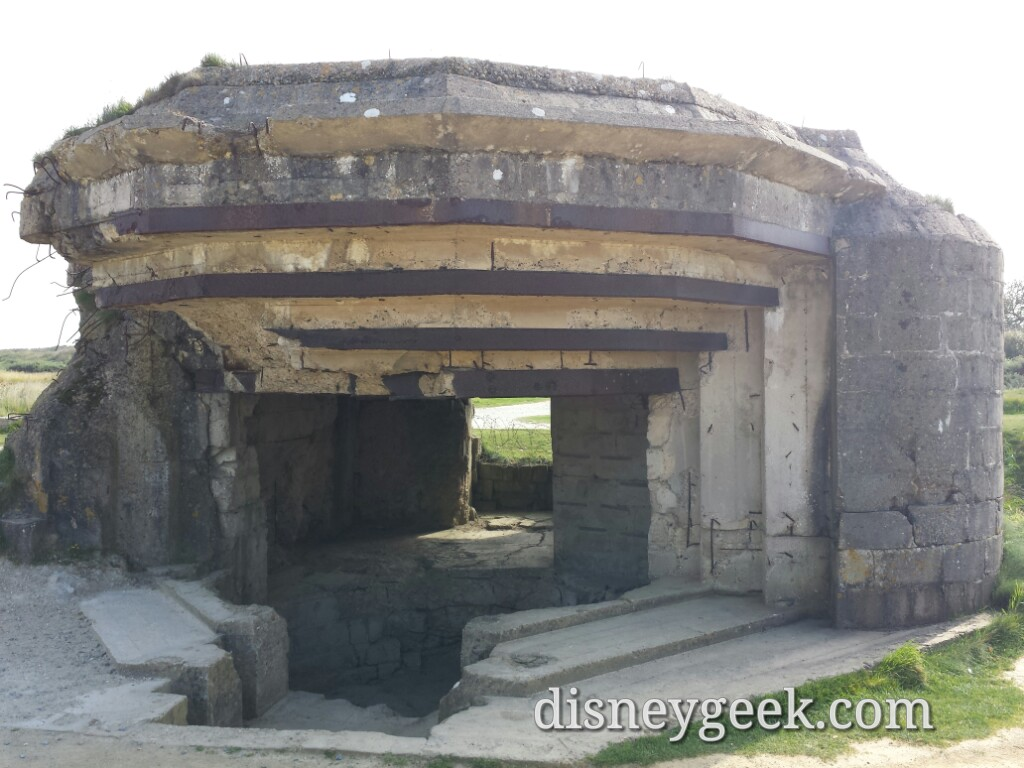 What remains of a bunker at Pointe du Hoc