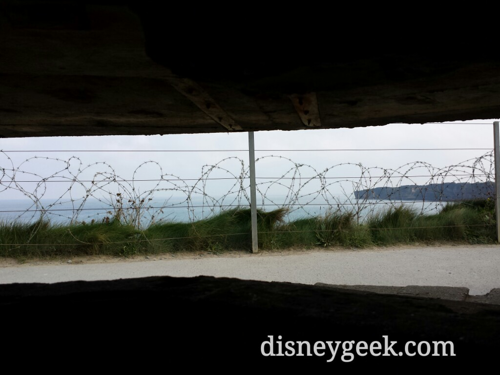 The view from the German command post bunker at Pointe du Hoc #France