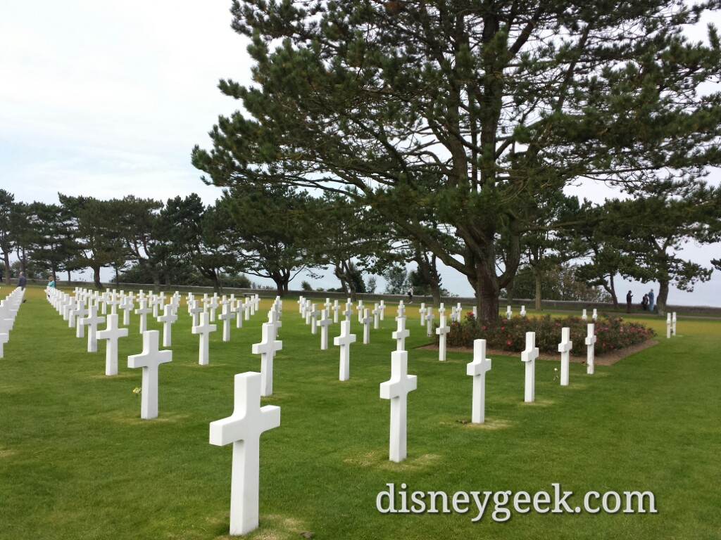 9,387 white marble gravestones are in this American Cemetery in Normandy #France