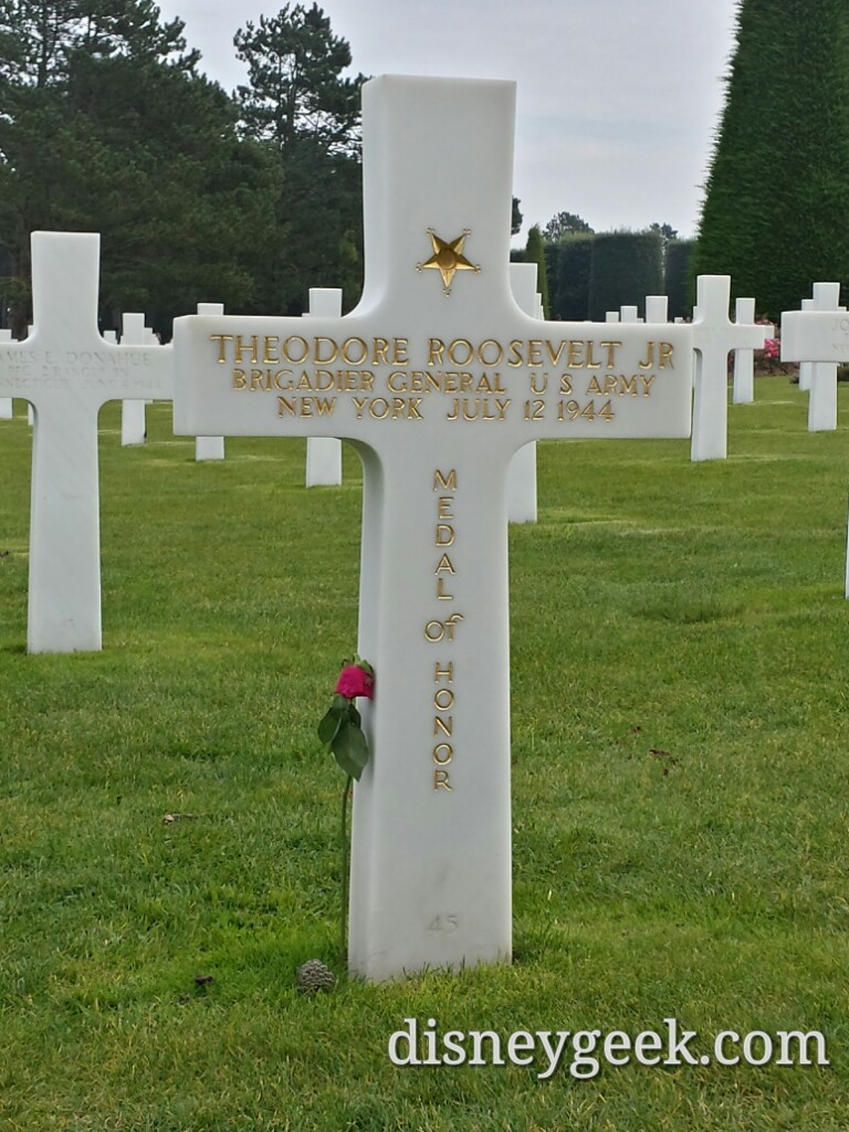 Theodore Roosevelt Jr's grave in the American Cemetery in Normandy #France