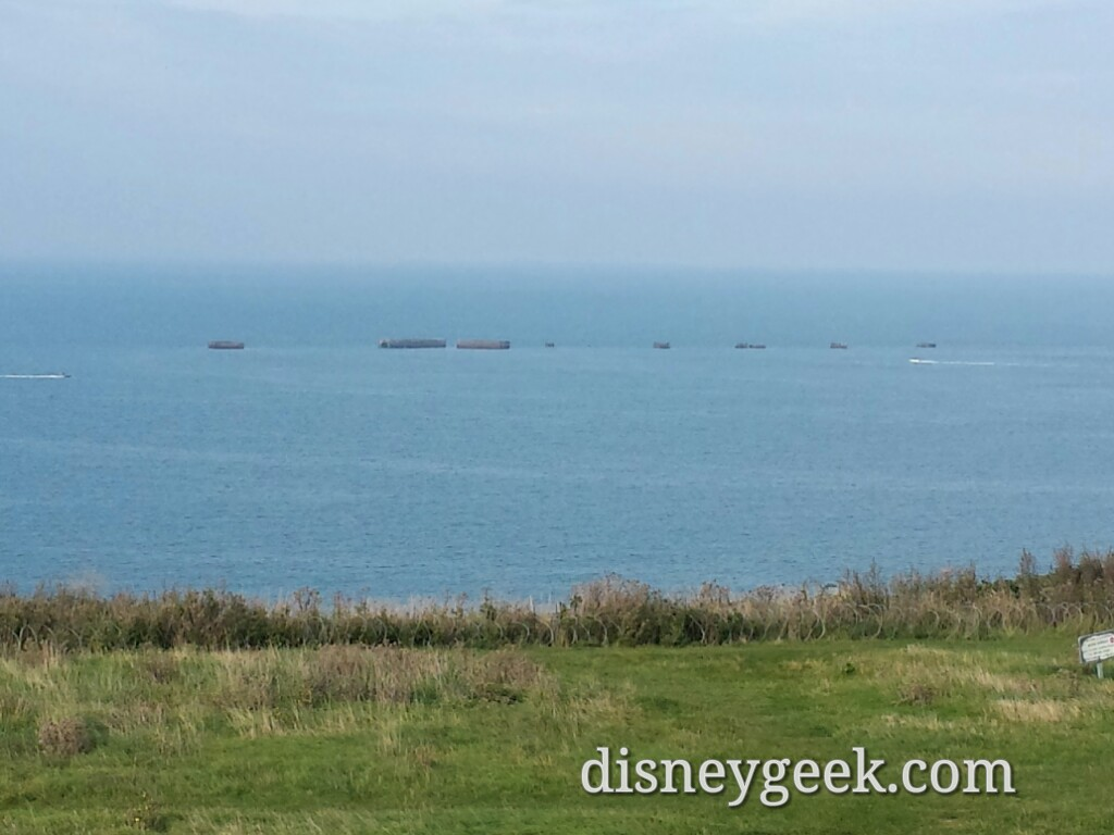 Arromanches and the remains of the artificial harbor #France