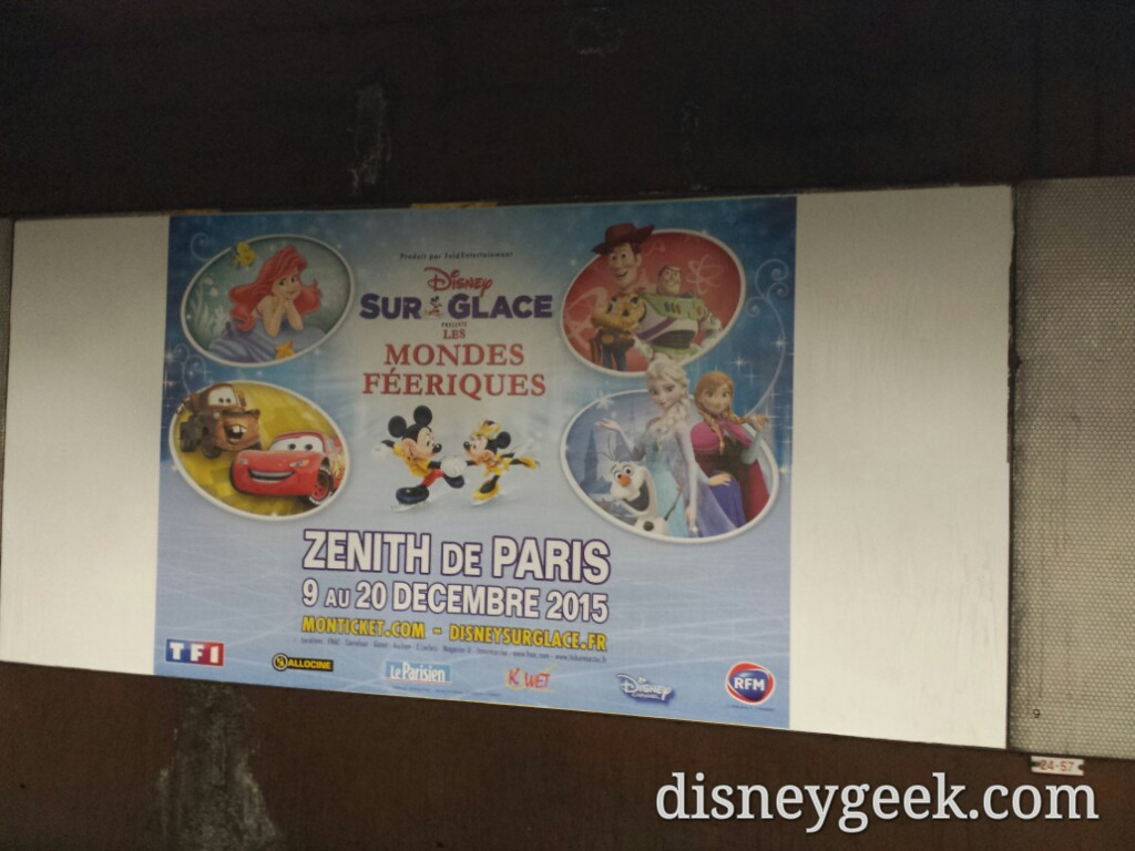 #Disney on Ice ad in the Gare de Lyon #Paris